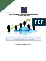 OULHAJ_Cours de Droit Des Affaires I.