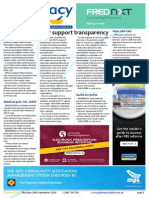 Pharmacy Daily for Thu 18 Sep 2014 - HCPs support transparency, New MA ceo, Supply chain info, Manufacturing taskforce, and much more