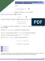 Ec.dif Lineales HomogÇneas Con Coeficientes Constantes
