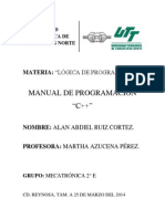 MANUAL DE C++ - ALAN ABDIEL RUIZ CORTEZ