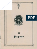 Proposal to Found Rose-Croix University (1934)