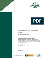 Characterisation of Salmonella 2011 Journal
