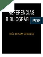 Referencias Bibliográficas Raul Ishiyama