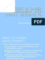 A STUDY ON CAREER DEVELOPMENT WITH SPECIAL REFERENCE TO IBM