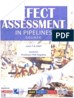 Defect Assessment in Pipelines Course