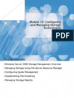 6421A_12 Configuring and Managing Storage Technologies