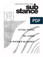 Substance, Vol 5 No 4, 1976, Flying White-The Writings of Maurice Blanchot