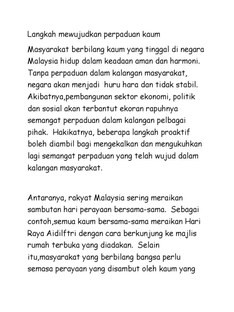 Gagasan Untuk Kepentingan Perpaduan Kaum Di Malaysia Erlie Decor