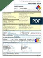 Fenoftaleina en Solucion -----Hds Formato 13 Secciones, Qmax