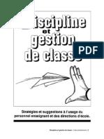 Discipline Et Gestion