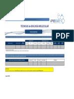 Ficha de Incripcion a Distancia - TÉCNICAS de BIOLOGÍA MOLECULAR
