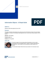 Authorization Objects - A Simple Guide