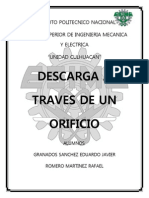 Descarga a Traves de Un Orificio