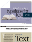 What is the right TypeFace for your text?