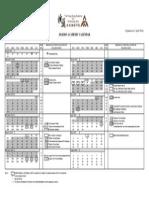 HKAPA Calendar 2014-2015 Updated on 2 April 2014