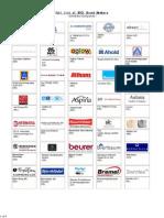 Full List of BSCI Brand Members