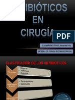 Antibioticos cirugia bucomaxilofacial.