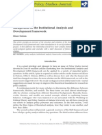 Ostrom Background Institutional Analysis 2011