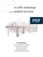 The Other 50% - Technology and Analytics in Soccer