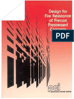 1 Design of Fire Resistance Precsat Pre Stressed Concrete PCI
