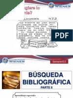 Semana 6.2 La Busqueda Bibliografica 2