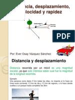 Distancia, Desplazamiento, Velocidad y Rapidez