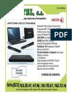 Oferta Laptop Toshiba Satellite Psc04u-00m5 16-12-2010