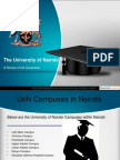 A Review of the University of Nairobi Campuses