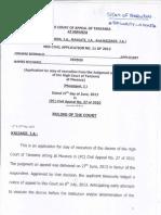Mza Civil Application No. 11 of 2013 (1)