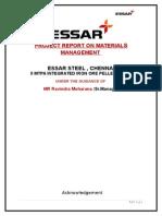 33128132 Materials Management in Essar Steel Chennai