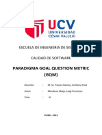 GQM - Goal Question Metric
