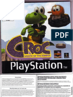 Croc legend of the Gobbos -psone- Βιβλίο Οδηγιών