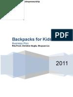 11.27 Backpacks for Kids Business Plan