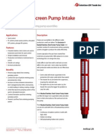 V-Backed SS Screen Pump Intake Technical Datasheet