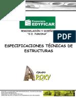 ESPECIFICACIONES TECNICAS PARCONA