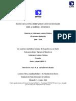 01. Un Análisis Multidimensional de La Pobreza en Haití. Pierre Antoine Delice