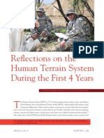 Reflections on the Human Terrain System During the First 4 Years
