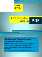 Tips Akhir Matematik UPSR Kertas 2