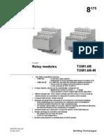 Desigo TX - CM2N8175en - Modules Relais - TXM1.6R - TXM1.6R-M