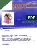 Evolutia Institutiilor de Credit