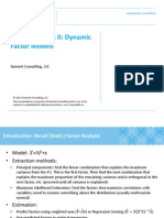 Factor Analysis II Dynamic Factor Models