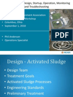 Activated Sludge Design Startup Operation Monitoring