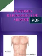 Anatomia radiologica del abdomen