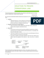Private International Law Notes