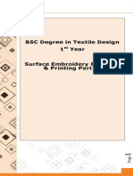 Surface Embroidery & Dyeing & Printing Part-A