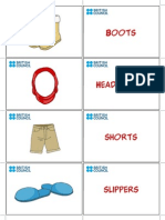 Kids Flashcards Clothes 3