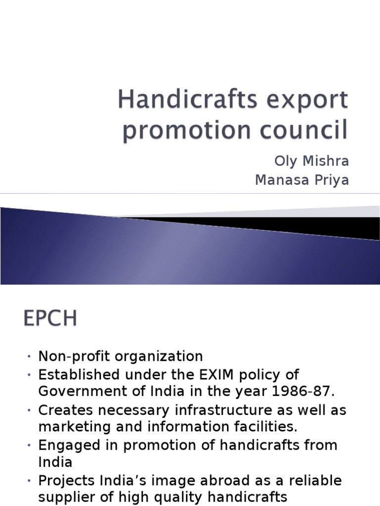 Handicrafts Export Promotion Council Additional Extra Exports