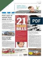 Asbury Park Press front page Thursday, Sept. 18 2014