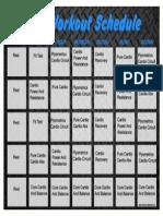 Insanity Schedule