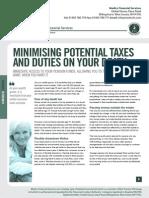 Medics Potential Taxes and Duties